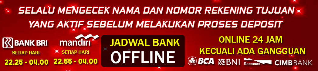 Jadwal Bank Judi Online